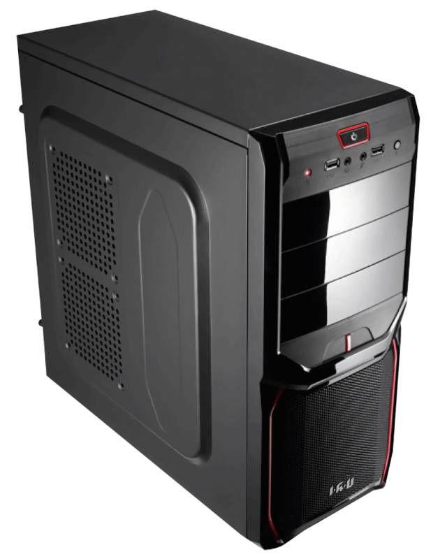 Компьютер  IRU Corp City Intel  Core i3  4160,  DDR3 4Гб, Intel HD Graphics 4400,  без ODD,  noOS,  черный и красный