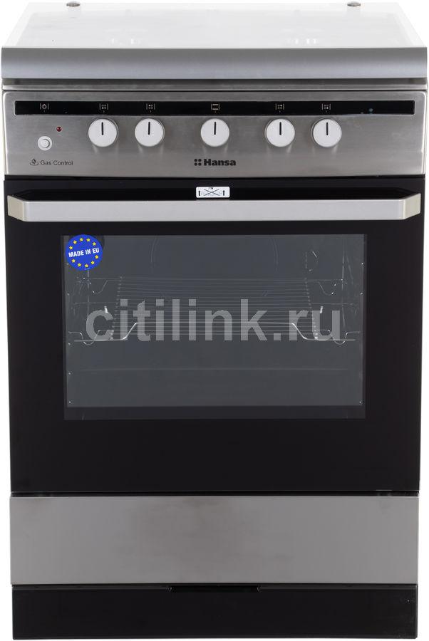 Газовая плита HANSA FCGI63022,  газовая духовка,  нержавеющая сталь