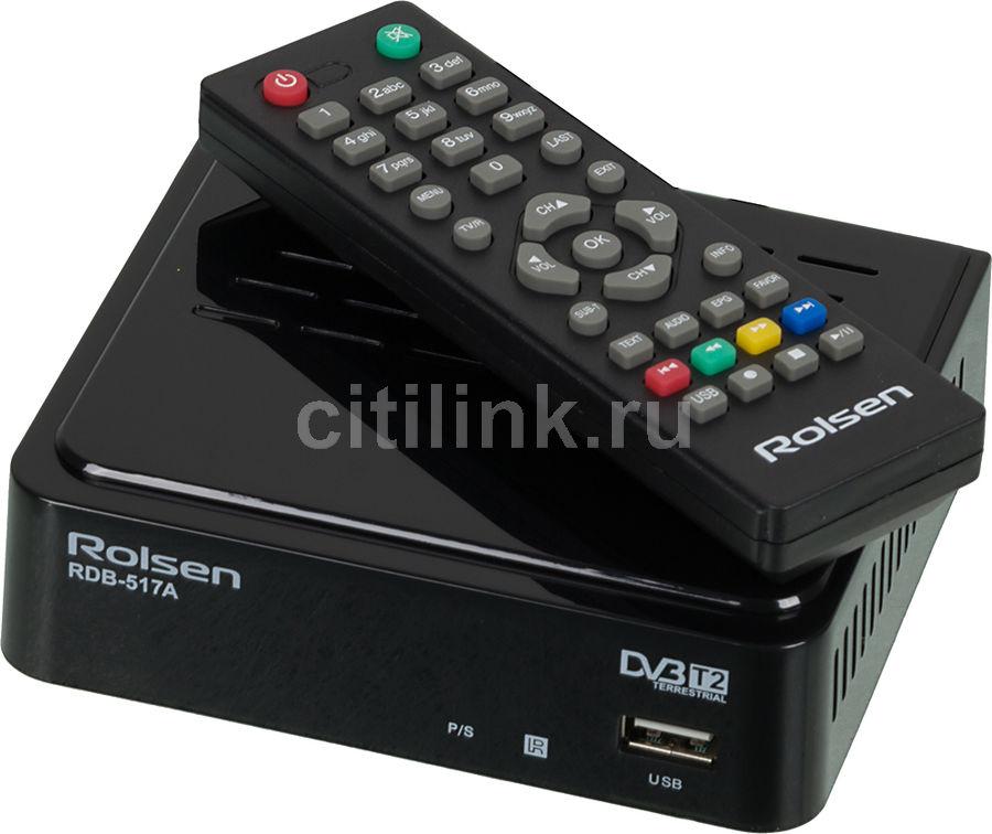 Ресивер DVB-T2 ROLSEN RDB-517A,  черный [1-rldb-rdb-517a]