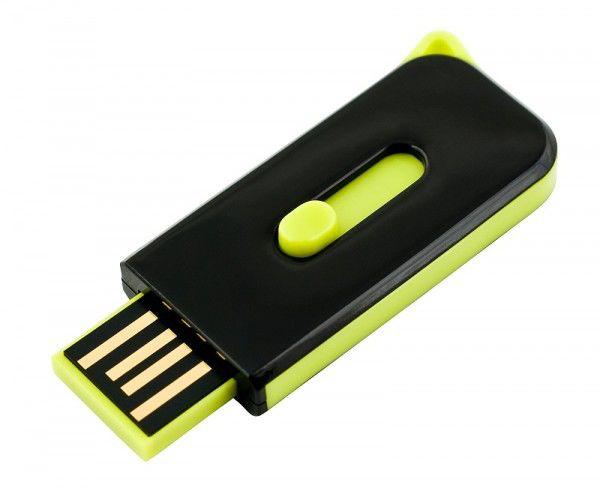 Флешка USB DIGMA Hide 8Гб, USB2.0, черный и салатовый
