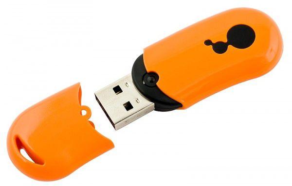 Флешка USB DIGMA Bean 4Гб, USB2.0, оранжевый