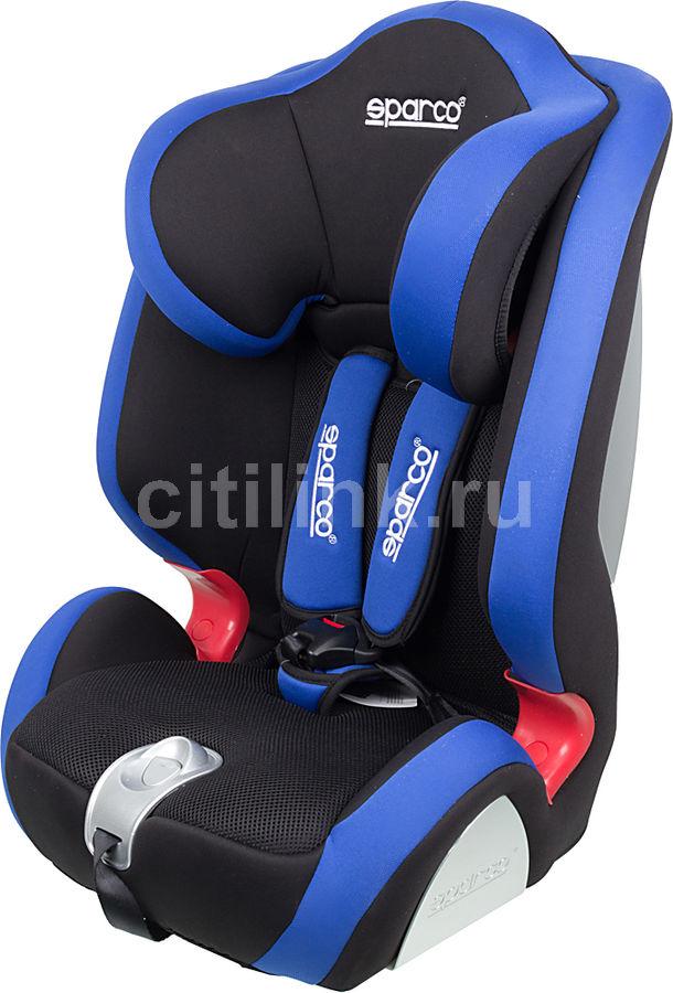 Автокресло детское SPARCO F 1000 K, 1/2/3, черный/голубой [spc/dk-350 bk/bl]