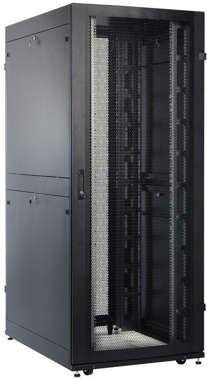 Шкаф серверный ЦМО (ШТК-СП-48.8.12-48АА-9005) 48U 800x1190мм пер.дв.перфор. 2 бок.пан. 1350кг черный
