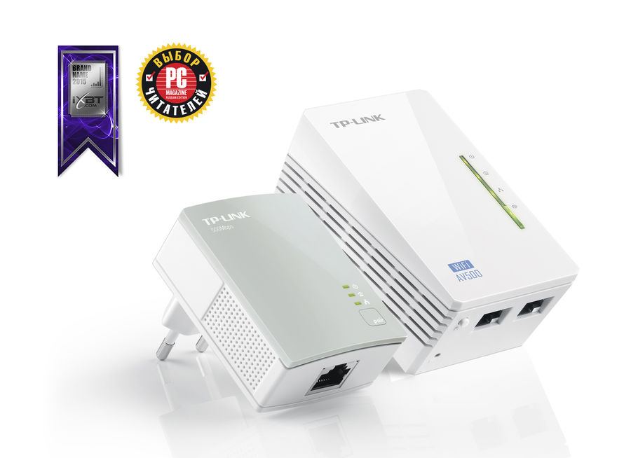 Сетевой адаптер PowerLine/WiFi TP-LINK TL-WPA4220KIT Ethernet tp link tl pa7020pkit av1000 ver 2 0 комплект адаптеров powerline со встроенной розеткой