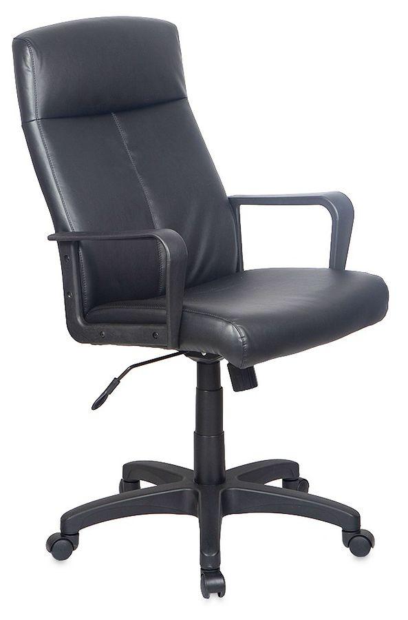 Кресло руководителя БЮРОКРАТ T-900, на колесиках, кожа, черный