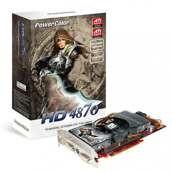 Видеокарта POWERCOLOR Radeon HD 4870,  512Мб, DDR5, Ret [ax4870 512md5]