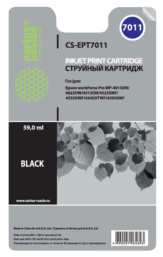 Картридж CACTUS CS-EPT7011 черный