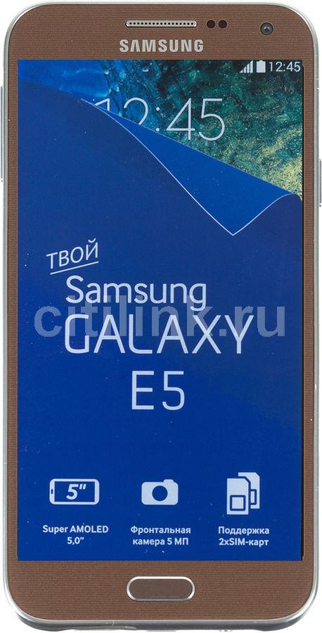 Смартфон SAMSUNG Galaxy E5 SM-E500H/DS  коричневый