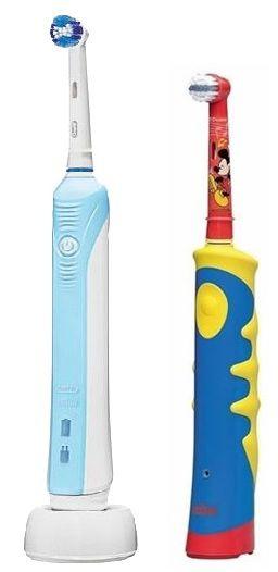 Электрическая зубная щетка ORAL-B + Электрическая зубная щетка Oral-B Kids Stages Mickey mouse для детей Professional Care 500 голубой