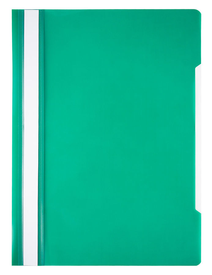 Папка-скоросшиватель Бюрократ Economy -PSE20GRN A4 прозрач.верх.лист пластик зеленый