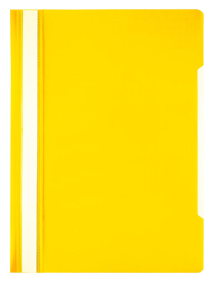 Папка-скоросшиватель Бюрократ Economy -PSE20YEL A4 прозрач.верх.лист пластик желтый