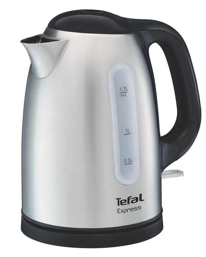 Чайник электрический TEFAL KI230D30, 2400Вт, серебристый